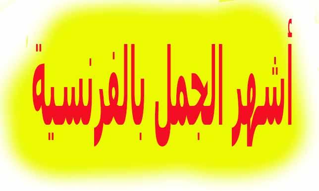 جمل بالفرنسية مترجمة بالعربية PDF
