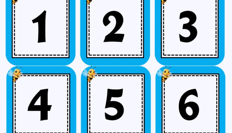 بطاقات الحروف والارقام