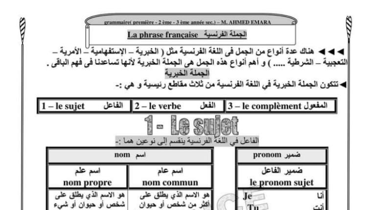 كتاب رائع للغة الفرنسية